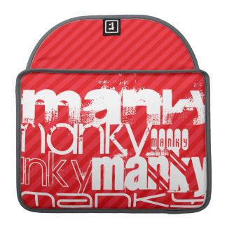 Manky; Scarlet Red Stripes MacBook Pro Sleeve