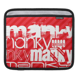 Manky; Scarlet Red Stripes Sleeve For iPads