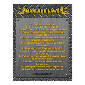 MANLAND LAWS Poster!!