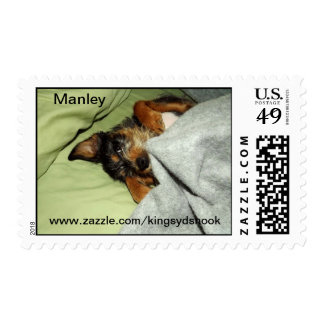 Manley pup1locked postage stamps