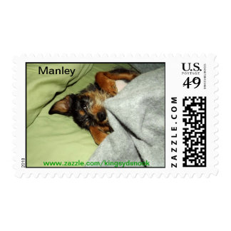 Manley pup postage stamps