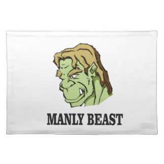 manly beast placemat