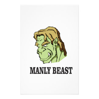 manly beast stationery