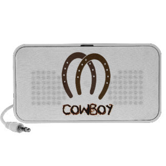 Manly Cowboy and Horse Shoes Laptop Speaker