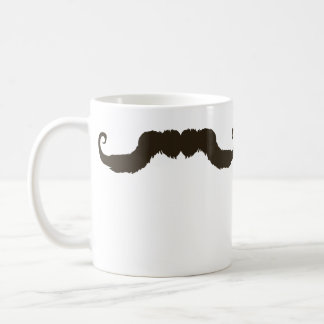 Manly curled mustache coffee mug