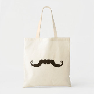 Manly curled mustache tote bag