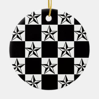 Manly Dark Stars Print Ceramic Ornament