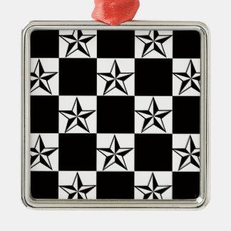 Manly Dark Stars Print Metal Ornament
