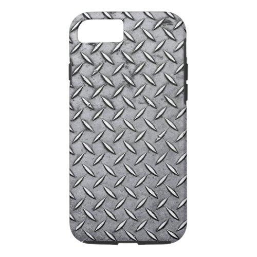 Manly Diamond Cut Metal - Cool Metallic Plate Look Phone Case