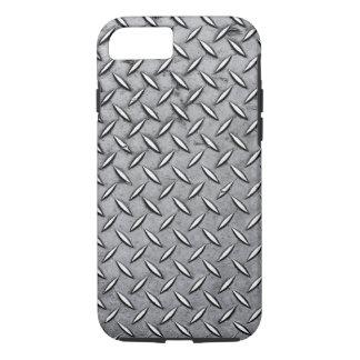 Manly Diamond Cut Metal - Cool Metallic Plate Look iPhone 7 Case