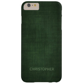 Manly Executive Linen Design with Name Barely There iPhone 6 Plus Case