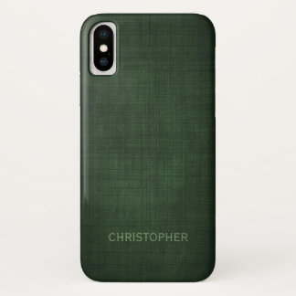 Manly Executive Linen Design with Name iPhone X Case