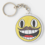 Manly face key chains