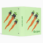 Manly fancy carrot small recipe 3 ring binders