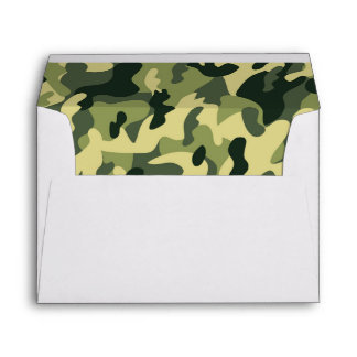 Manly Green Camouflage Camo Military Pattern Envelope