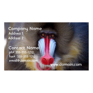 Manly Mandrill Double-Sided Standard Business Cards (Pack Of 100)