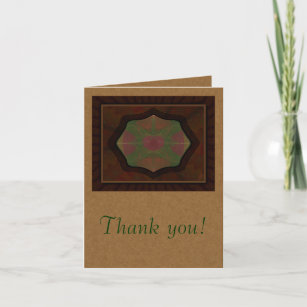 Manly Thank You Cards Zazzle