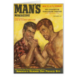 Manly Men Arm Wrestle Card