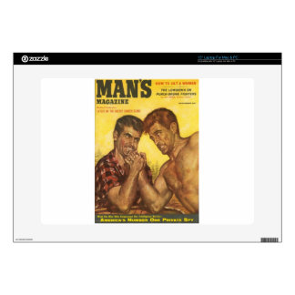 Manly Men Arm Wrestle Decals For Laptops