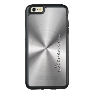 Manly Metallic Radial Stainless Steel Look OtterBox iPhone 6/6s Plus Case