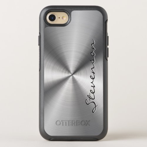Manly Metallic Radial Stainless Steel Look Phone Case
