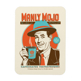 Manly Mojo Coffee Magnet