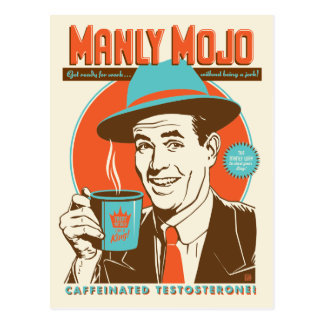 Manly Mojo Coffee Postcard