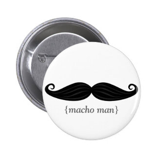 Manly Mustache Buttons