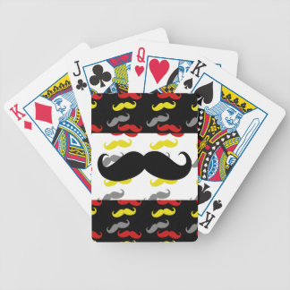 Manly Mustache Hair Colors Bicycle Playing Cards