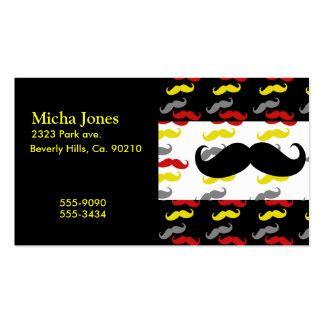Manly Mustache Hair Colors Business Card