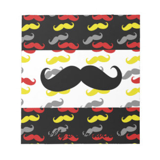 Manly Mustache Hair Colors Note Pad