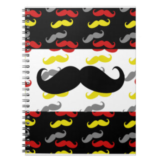 Manly Mustache Hair Colors Notebook