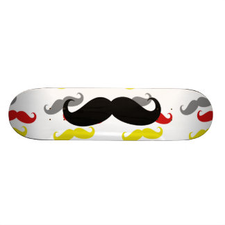 Manly Mustache Hair Colors Skateboard Decks