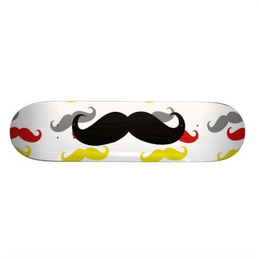 Manly Mustache Hair Colors Skateboard Decks