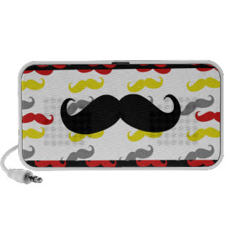Manly Mustache Hair Colors Mp3 Speaker