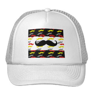 Manly Mustache Hair Colors Trucker Hat