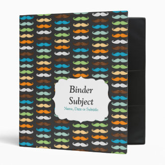 Manly Mustaches 3 Ring Binders