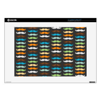 Manly Mustaches Decals For Laptops