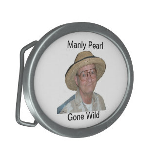 Manly Pearl Gone Wild - Oval Belt Buckle