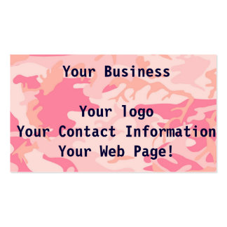 Manly Pink Camo Double-Sided Standard Business Cards (Pack Of 100)