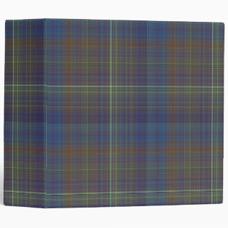 Manly Plaid 3-ring Binder