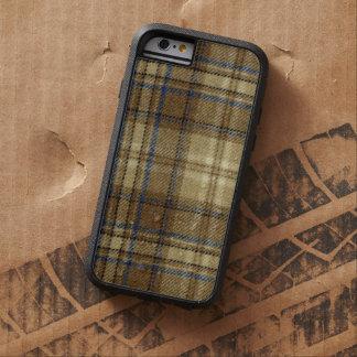 Manly Retro Beige and Blue Plaid Rustic Warm Plaid Tough Xtreme iPhone 6 Case