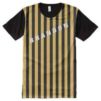 Manly Rugby Stripes Custom Color Background Z06 All-Over-Print Shirt
