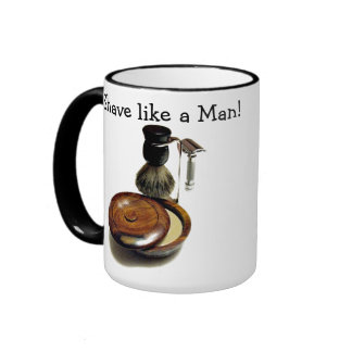 Manly Shave Ringer Mug