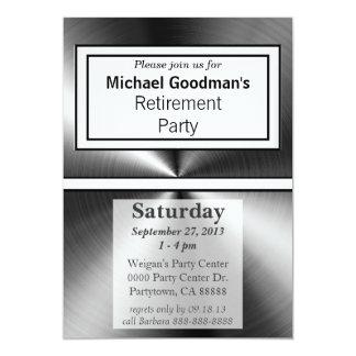 Manly Shiny Metallic Metal 5x7 Paper Invitation Card