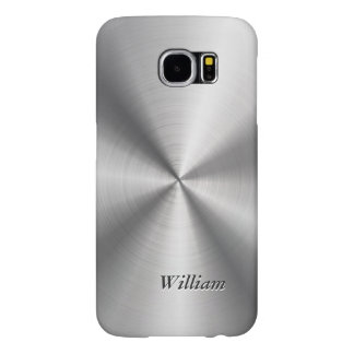 Manly Stainless Steel Pattern Look Mongorammed Samsung Galaxy S6 Case