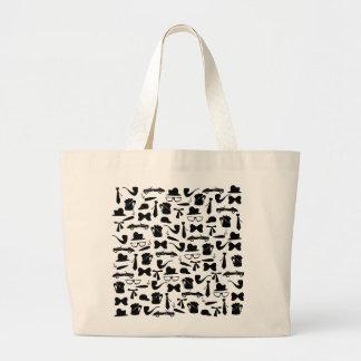 Manly symbols pattern just for men large tote bag