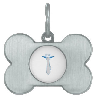 Manly Tie Pet Tag