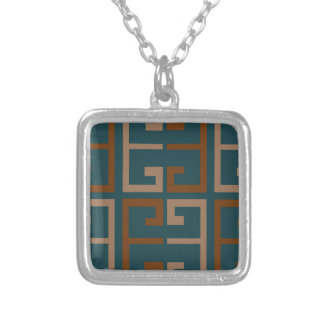Manly Tone Tile Silver Plated Necklace