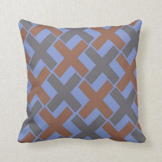 Manly Xs Pattern Throw Pillow